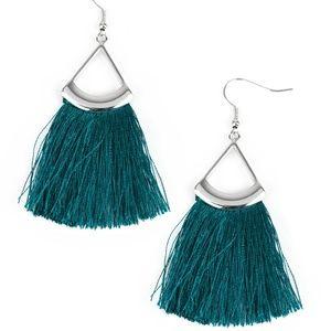 Tassel Tuesday - Blue Fringe Earrings